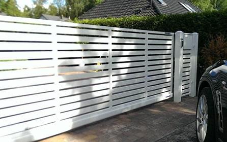 Забор горизонтальный штакетник от МаркетВорот